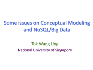ER2015-SCBC Workshop-Ling-Some issues on Conceptual Modeling and NoSQL