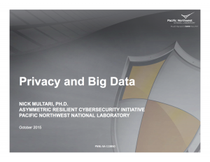 ER2015-SCBC Workshop-Mutari-Big Data and Privacy
